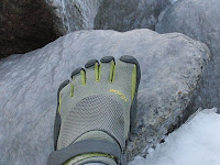 Vibram Fivefingers KSO on Ice