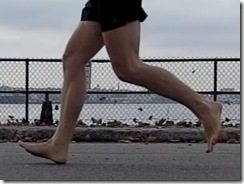 Slow Motion Video: Barefoot and Shod Running Form from the NYC Barefoot Run