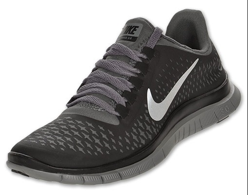Nike Womens Free 3.0 V5 Womens Running Shoes Black Metallic