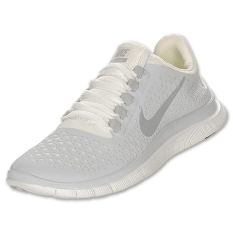 Nike Gray And White Shoes Roshe