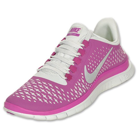 Pink Nike Shoes With Rhinestones