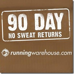 New Running Warehouse 90 Day No-Sweat Return Policy