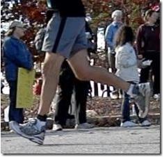 overstriding runner