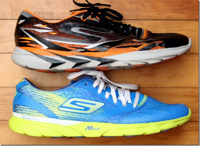 Skechers GoMeb Speed 3 vs 2 side
