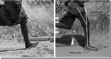 Hadza foot strikes