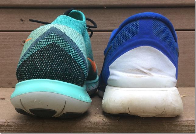 Nike Free 3.0 5.0 Heel Compare