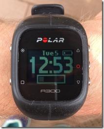 Polar A300 Status Bar