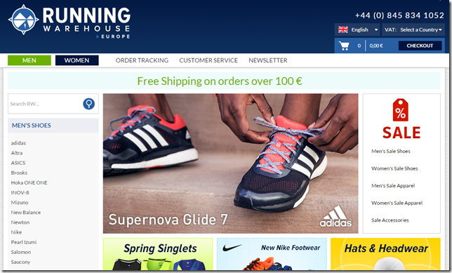 Running Warehouse Europe Screenshot