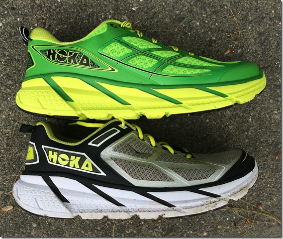 Hoka CLifton Compare Side