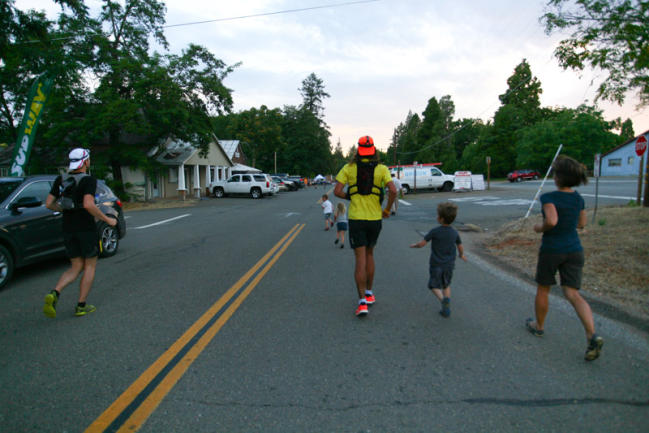 A major highlight from the day running with my kids out of Forest Hill.  They don't get to come to most of my races and I really enjoyed seeing them out there.  Big props to my wife for all the effort it took the other 23 hrs 58 mins of that day! Photo - Alyssa Henry