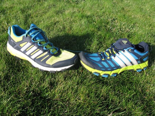 adidas Supernova Riot 6 on left and adidas Adistar Raven 3 on right