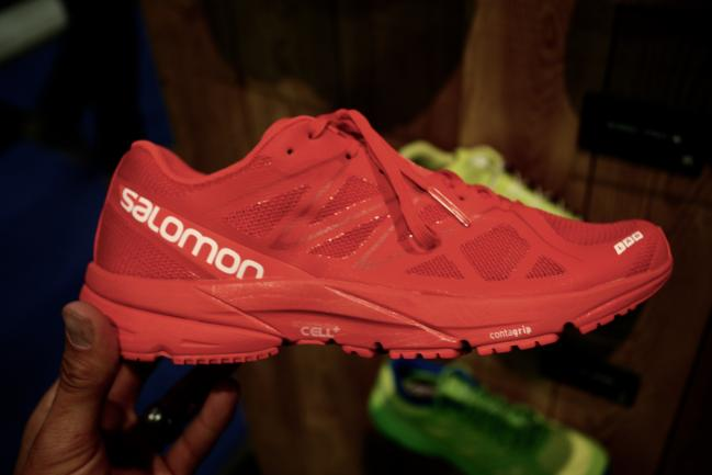 Salomon S-Lab Sonic which is a slightly updated S-Lab X-Series that, in a somewhat surprise move, has Salomon removing speed laces in favor of good old regular laces (I guess I'm not the only one!). This upper is very light and airy in person.