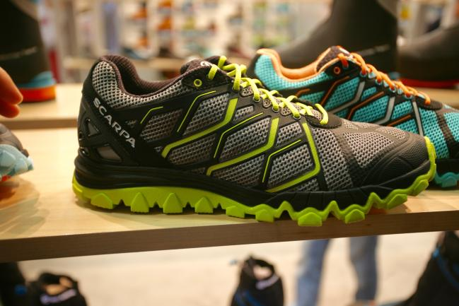 Good upper design that is seemless and looks comfortable and having run in the Scarpa Tru, the last is a nice shape.