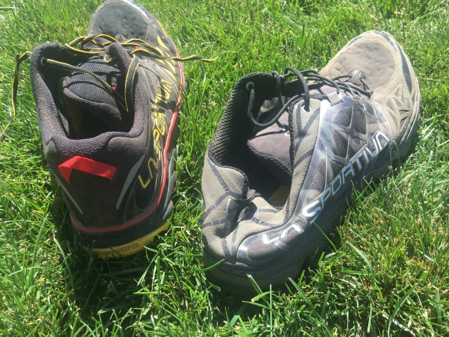No heel counter on the 2.0 (on right) is the biggest upper differentiation.