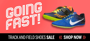 Running Warehouse Track Shoe ad